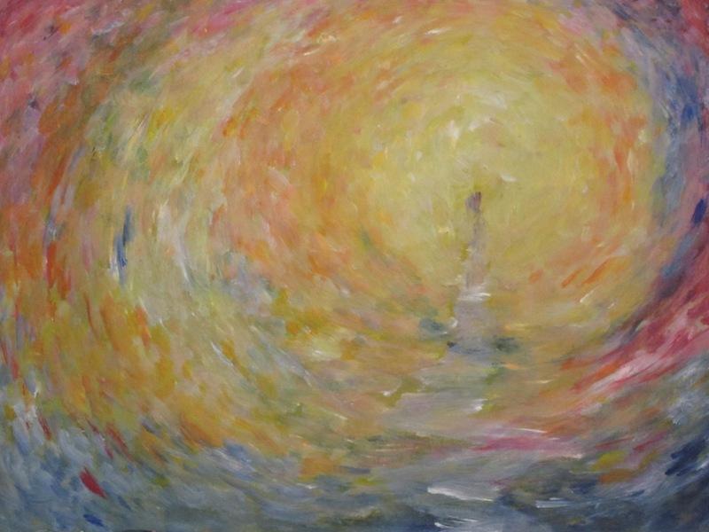 Licht (2012) - acryl op board, 41 bij 29 cm (privé collectie)
