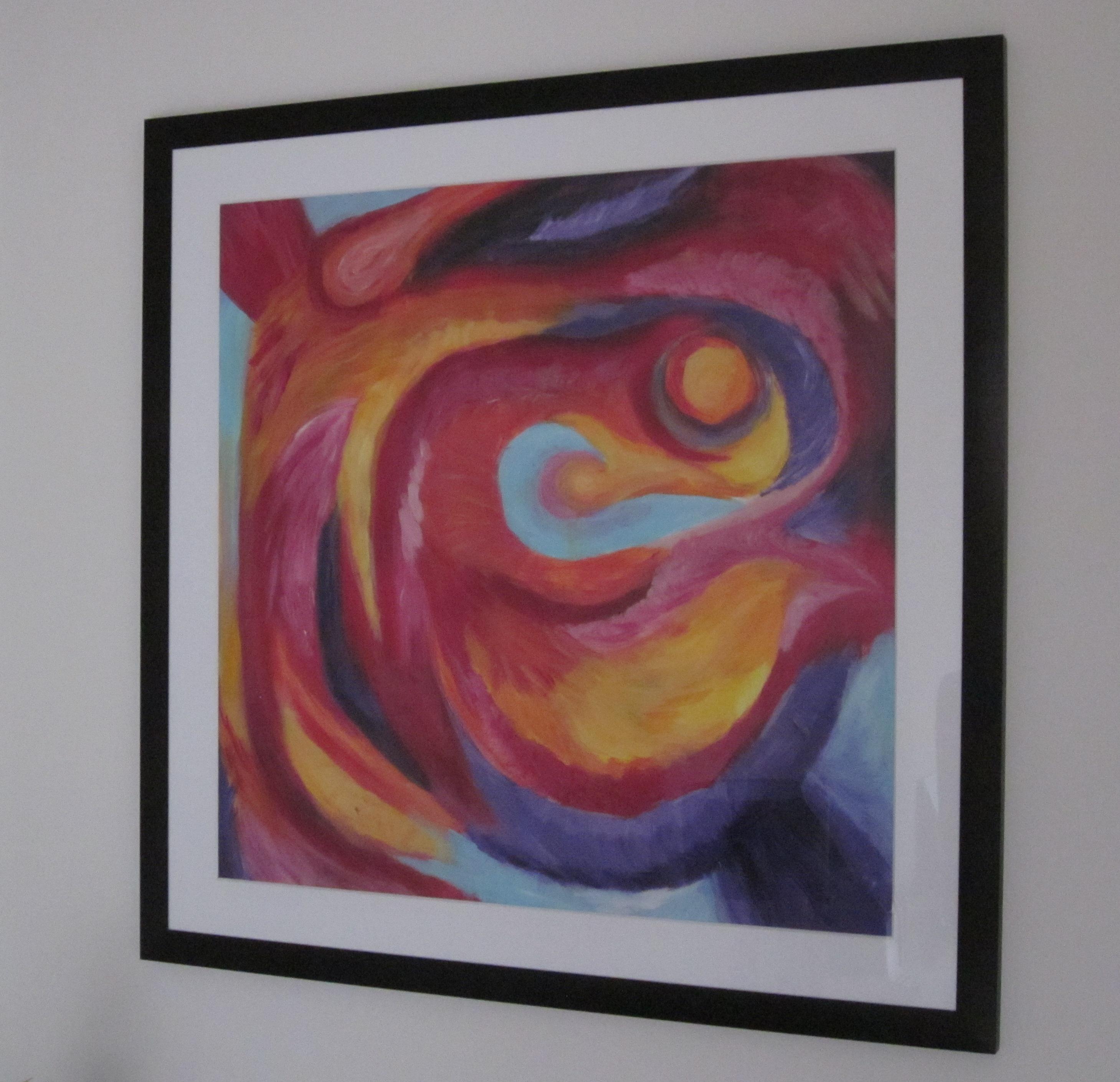 Kleurrijk (2011) - acryl op acrylpapier, 58 bij 58 cm (privé collectie)