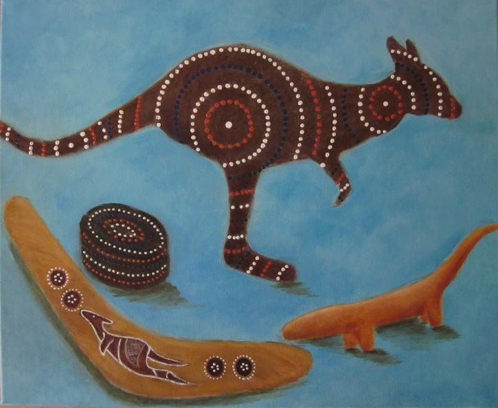 Australië (2014) - acryl op doek, 60 bij 50 cm - privé collectie
