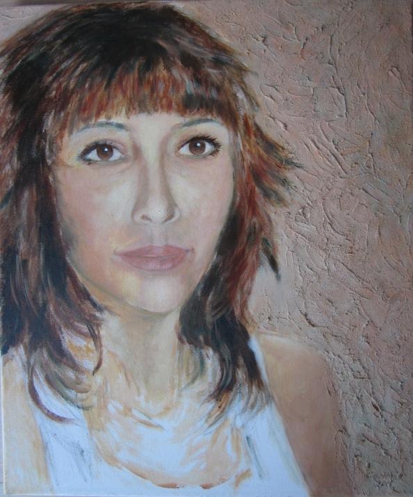 Doenja (2015), acryl op doek, 48 x 58 cm (werk in opdracht)