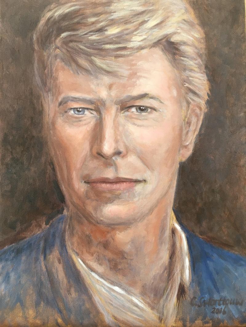 Bowie (2016) - olieverf op doek, 30 x 40 cm