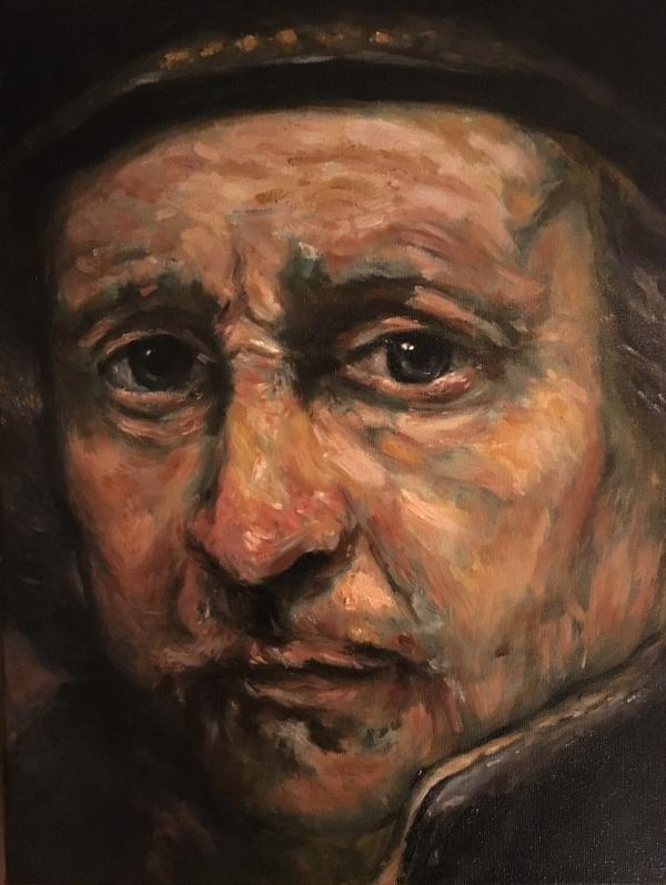 Rembrandt (2017) - olieverf op linnen, 30 x 40 cm