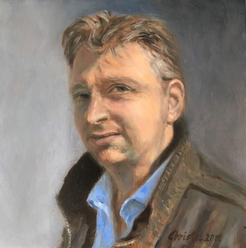 Rene (2018) - olieverf op paneel, 20 x 20 cm (privé collectie)